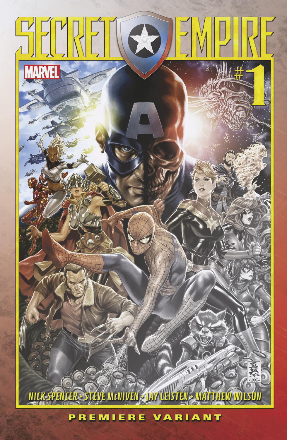 SECRET EMPIRE #1 (OF 10) BROOKS PREM VAR