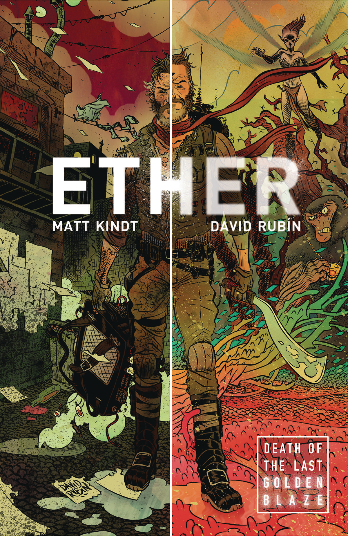 ETHER TP VOL 01 DEATH OF THE LAST GOLDEN BLAZE (MAR170043)