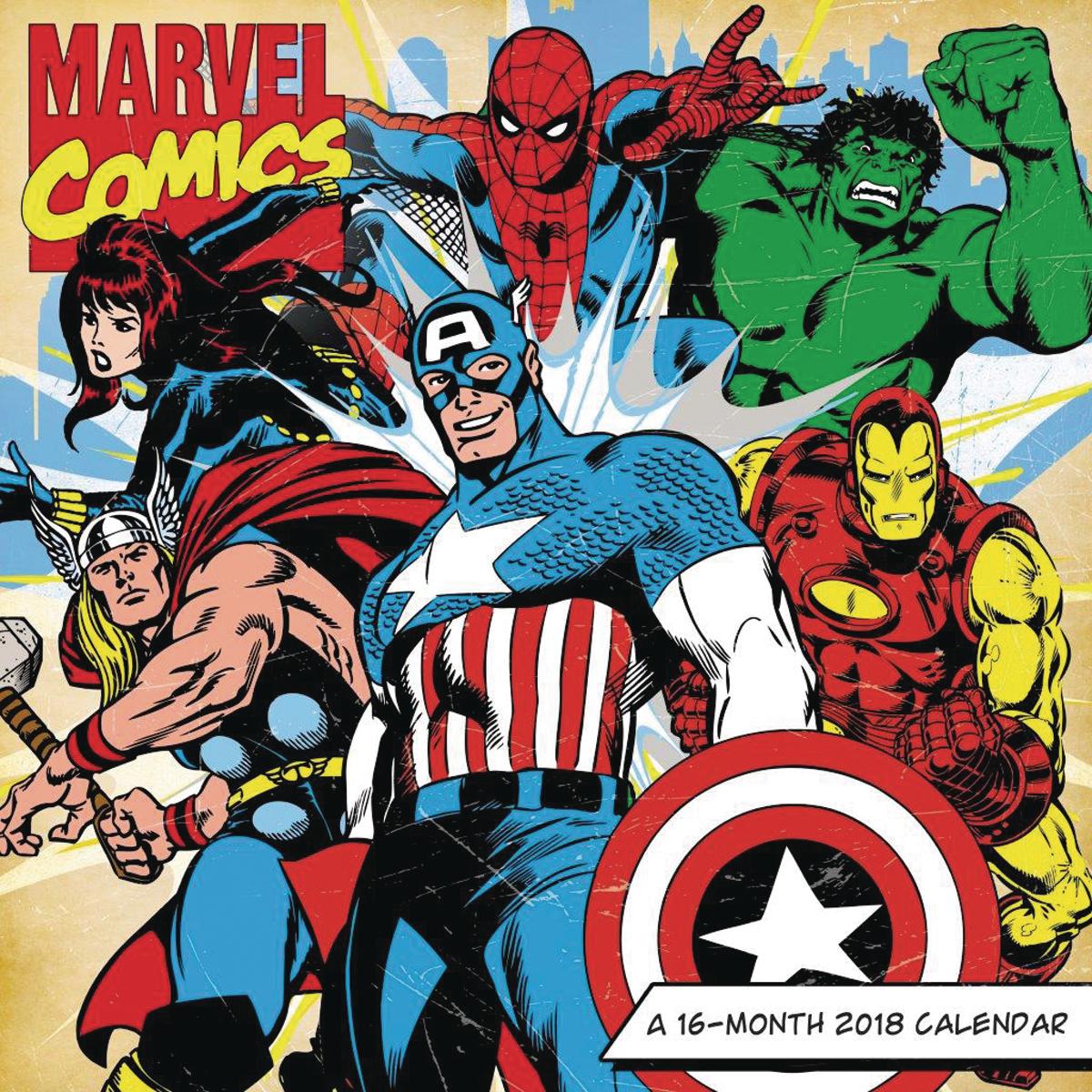 Apr172310 Marvel Comics Retro 16 Month 2018 Wall