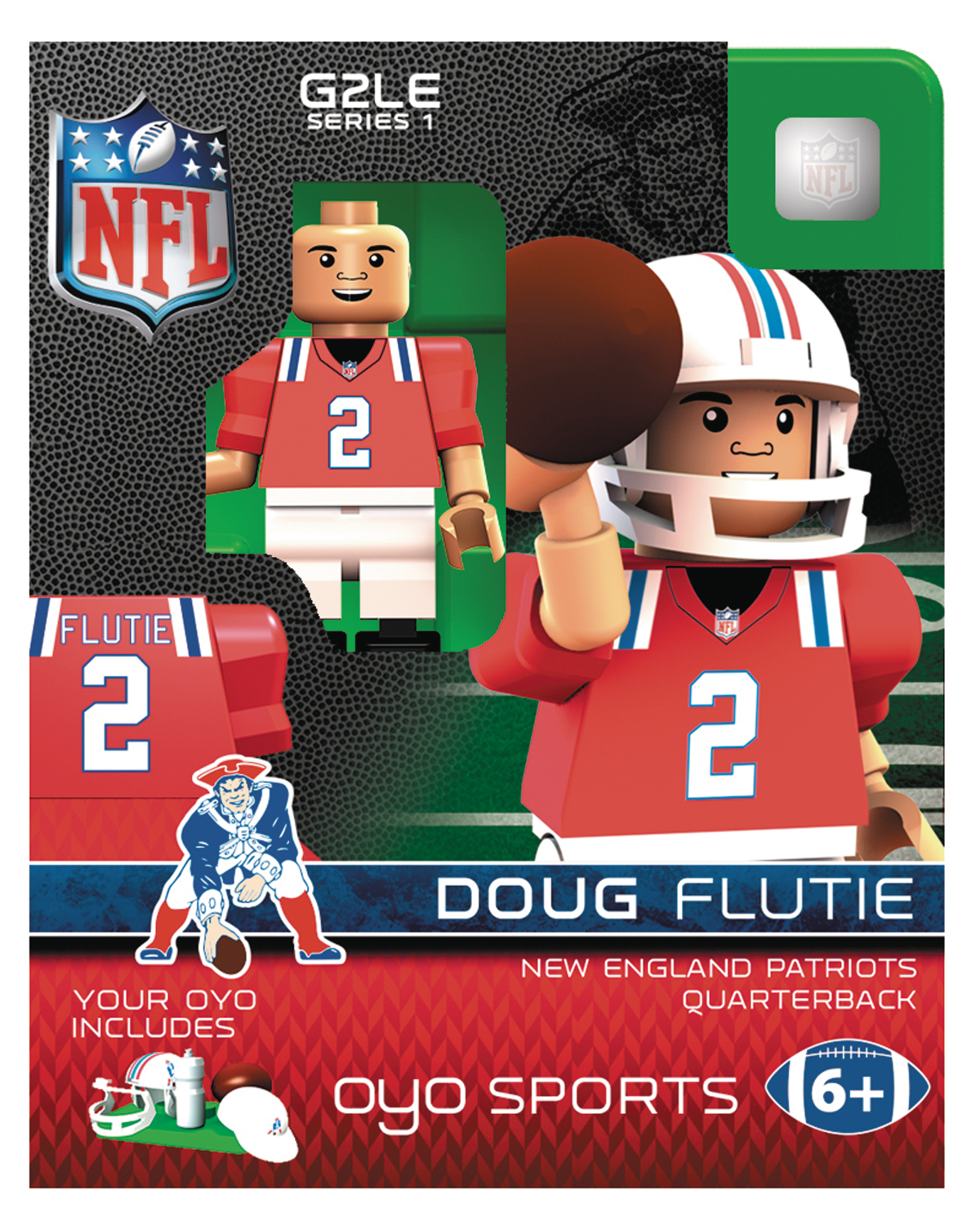 reputable site 53364 10ab2 MAY172781 - OYO NFL PATRIOTS DOUG FLUTIE MINI FIG THROWBACK ...