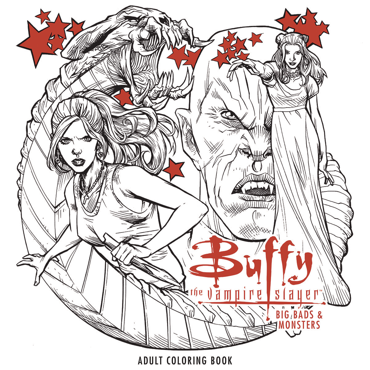 BTVS BIG BADS & MONSTERS ADULT COLORING BOOK TP (MAY170055)