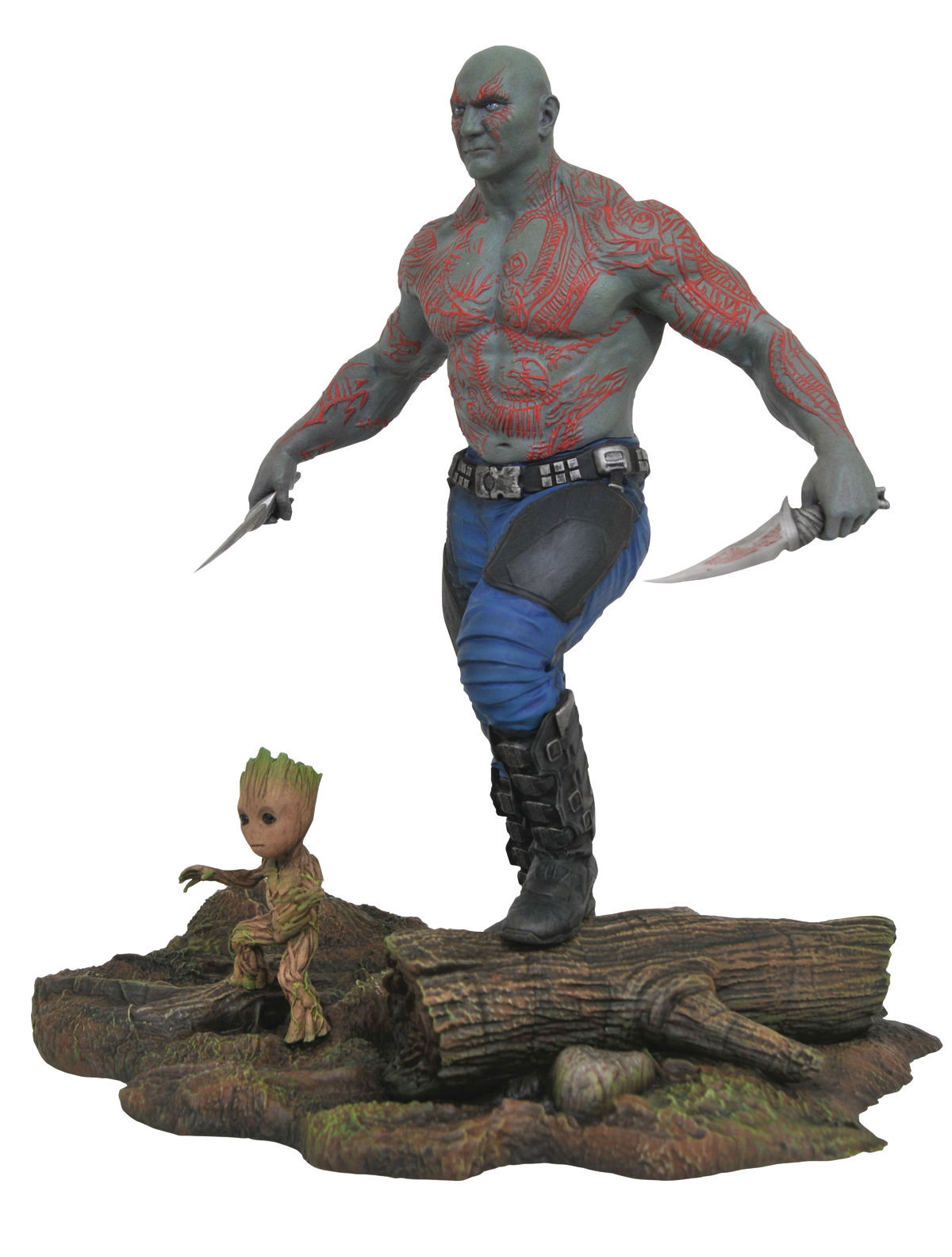 MARVEL GALLERY GOTG 2 DRAX & BABY GROOT PVC FIG