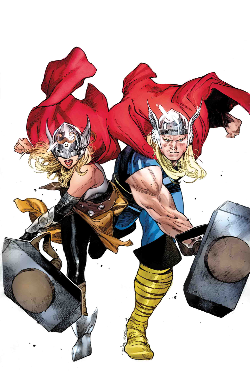 GENERATIONS UNWORTHY THOR & MIGHTY THOR BY COIPEL POSTER