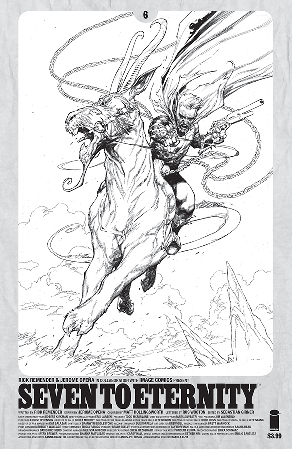 SEVEN TO ETERNITY #6 CVR D SPAWN MONTH B&W VAR