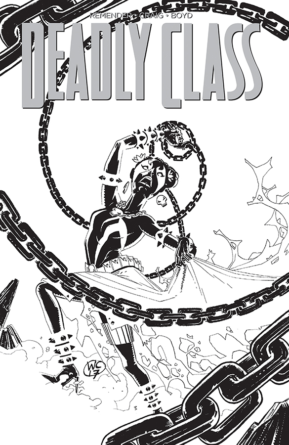 DEADLY CLASS #28 CVR D SPAWN MONTH B&W VAR (MR)