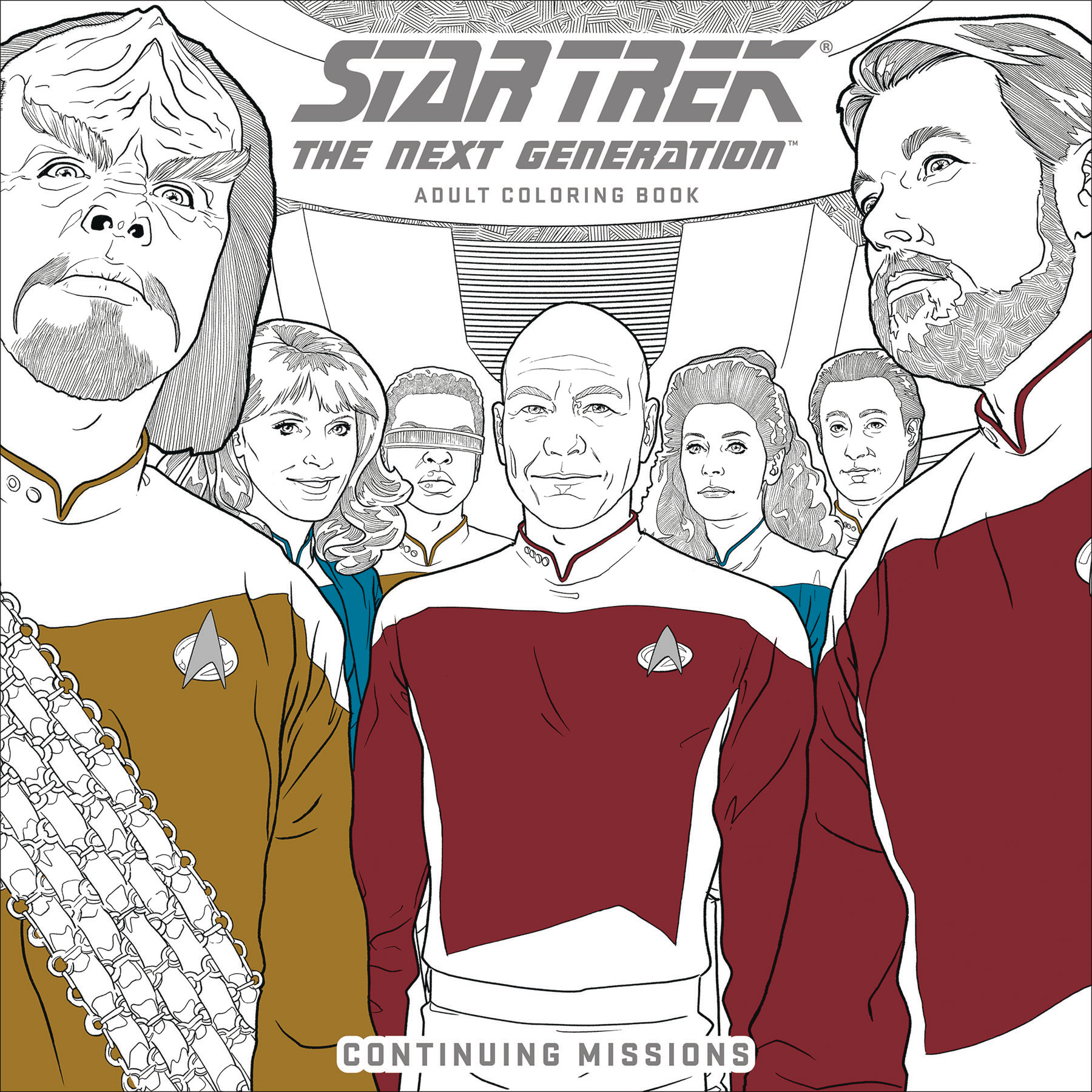 STAR TREK TNG ADULT COLORING BOOK TP VOL 02 CON (JUN170103)