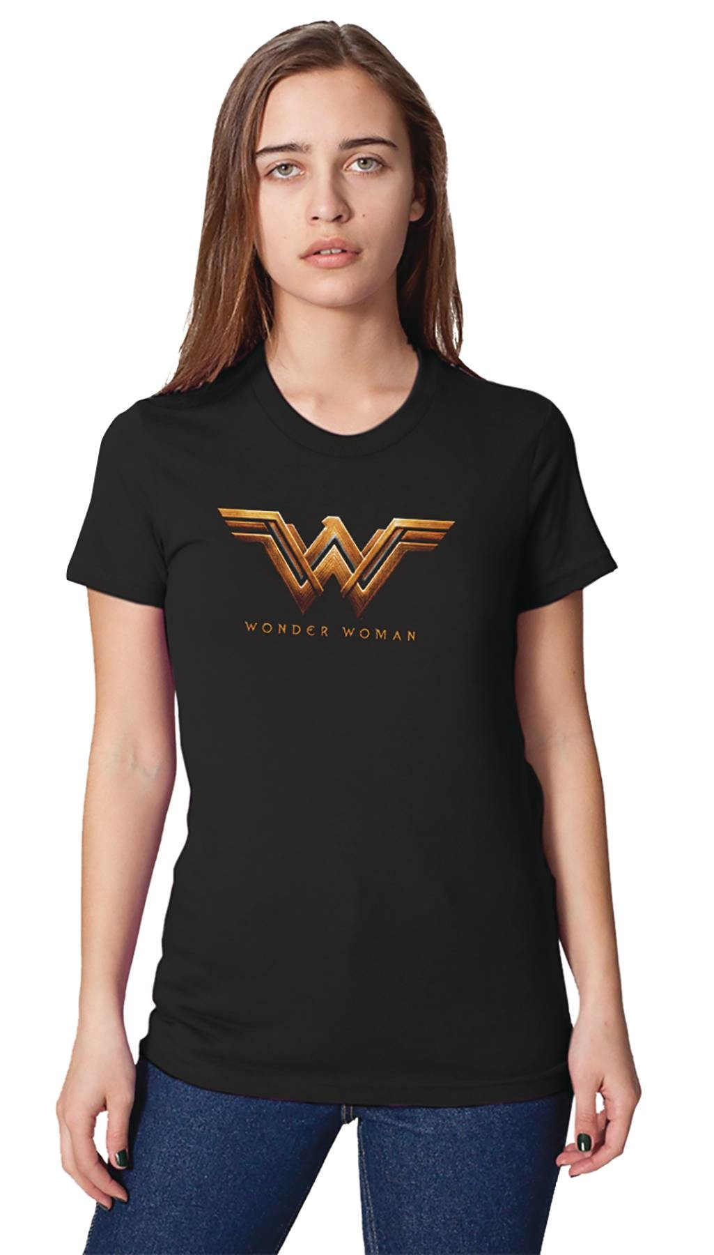 WONDER WOMAN MOVIE LOGO WOMENS T/S MED