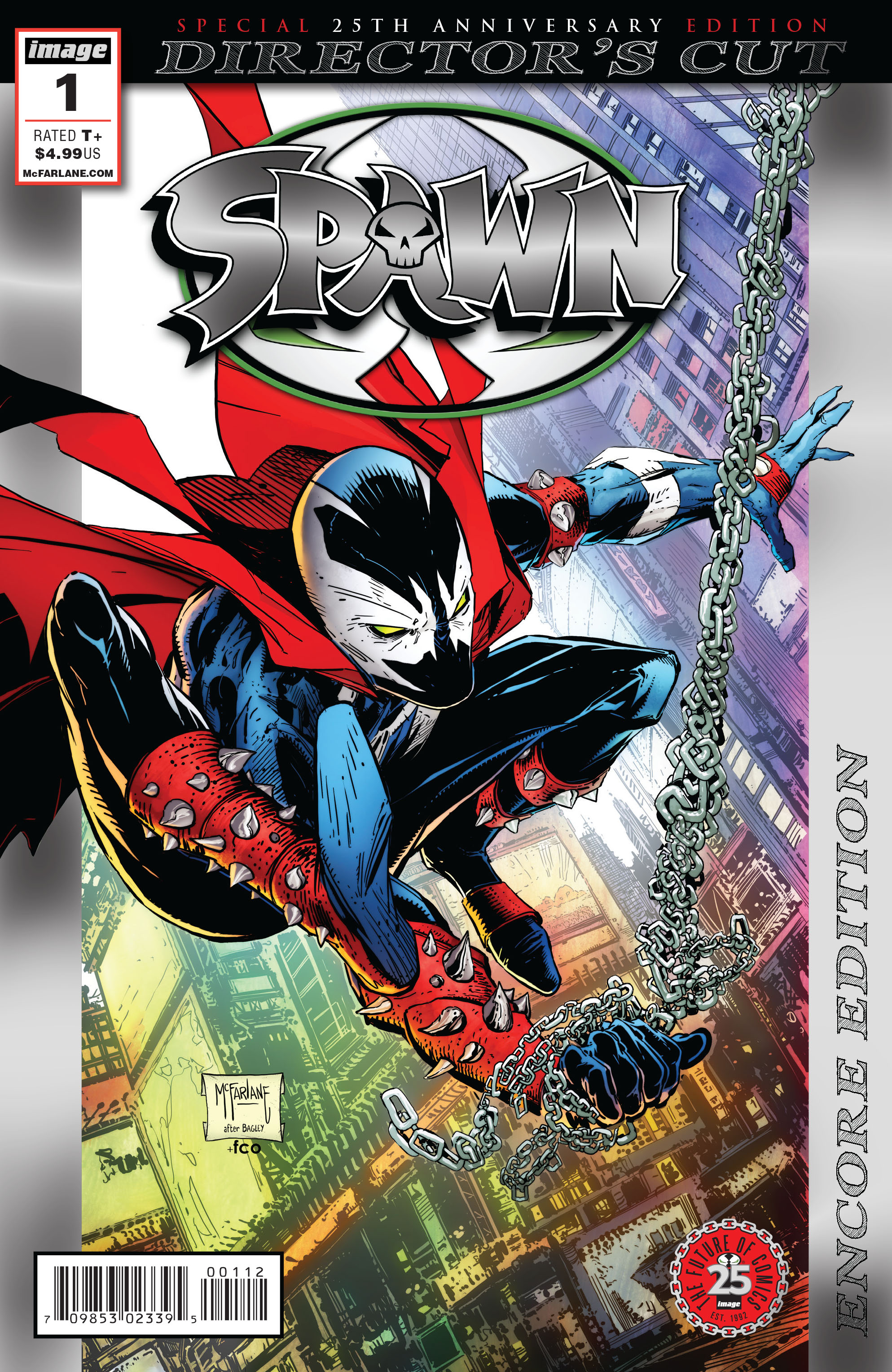 SPAWN #1 25TH ANN DIRECTORS CUT FOIL ENCORE ED