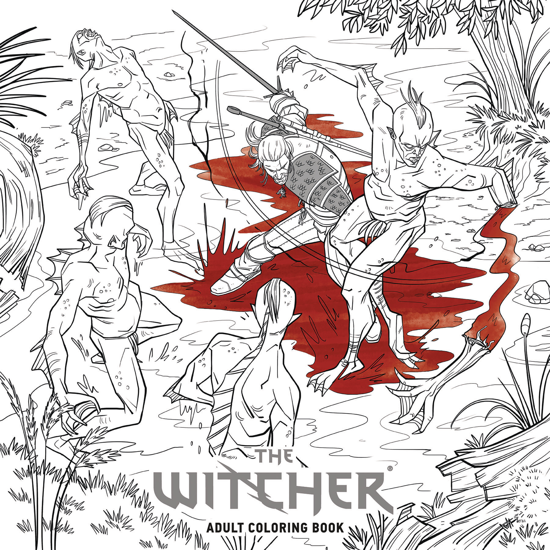WITCHER ADULT COLORING BOOK TP (AUG170067)