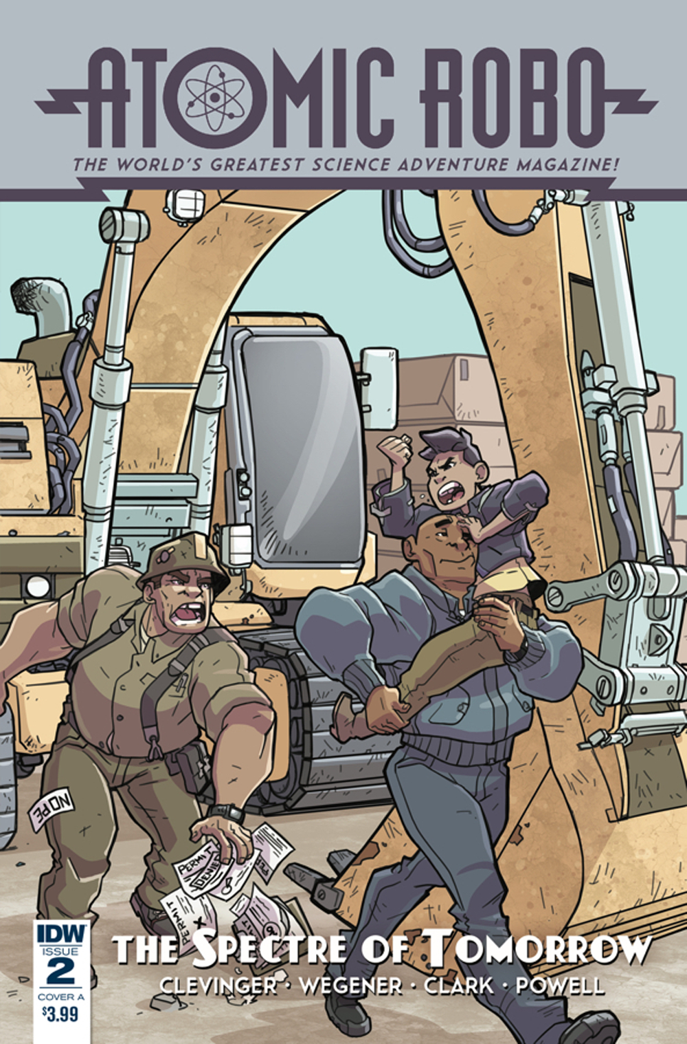 ATOMIC ROBO SPECTRE OF TOMORROW #2 CVR A WEGENER