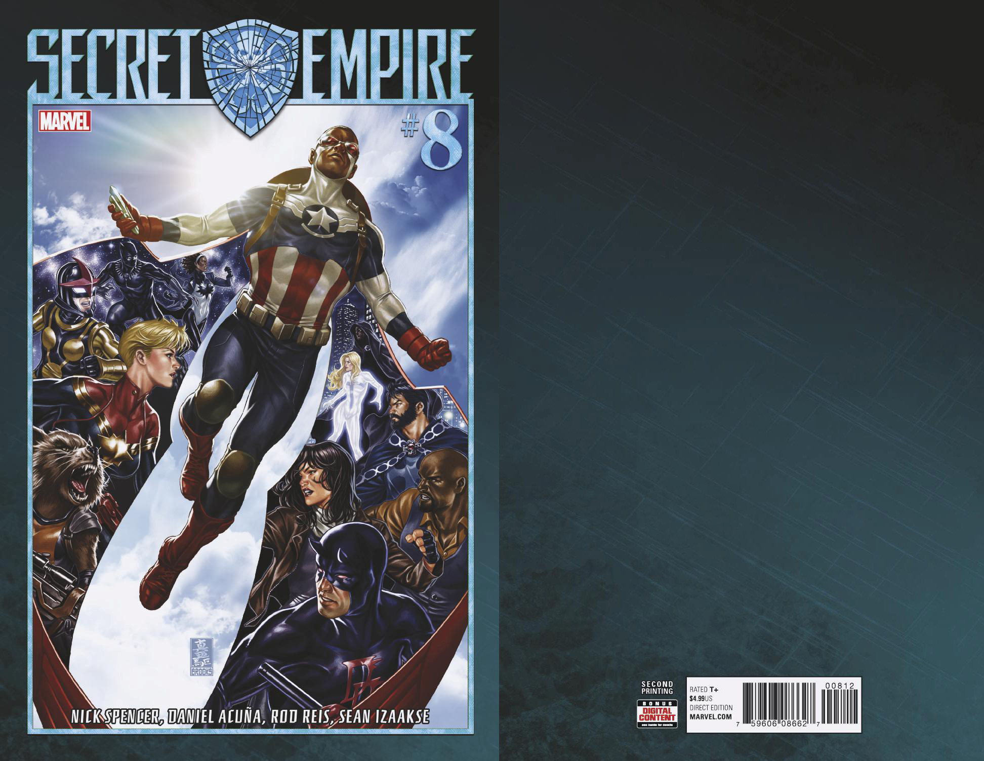 SECRET EMPIRE #8 (OF 10) BROOKS 2ND PTG VAR