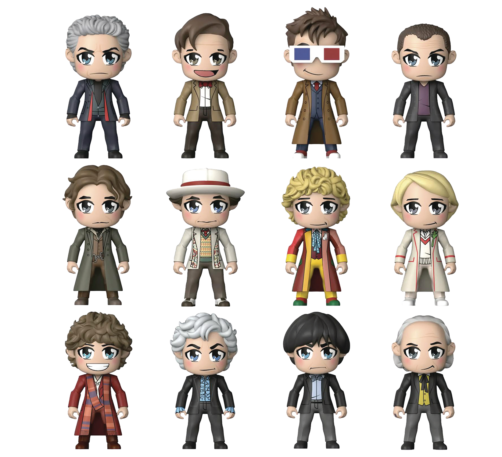 DOCTOR WHO KAWAII TITANS MINI FIG 18PC BMB DS