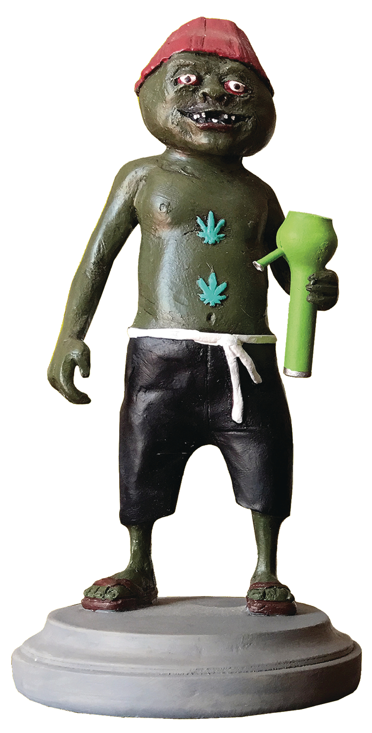 evil bong gingerweed man resin statue mr