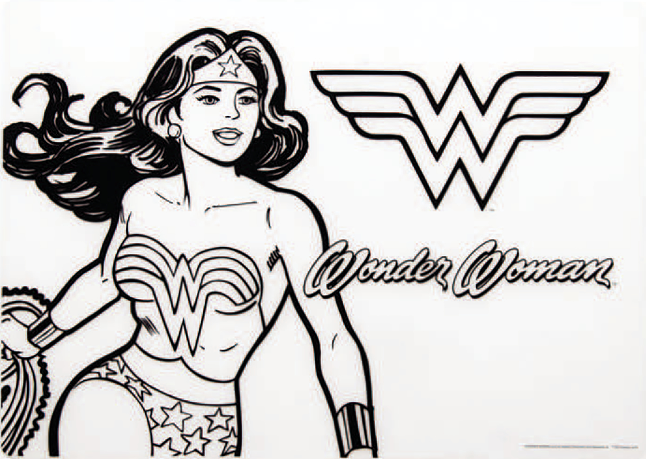 DC COMICS WONDER WOMAN SILICONE COLORING PLACEMAT