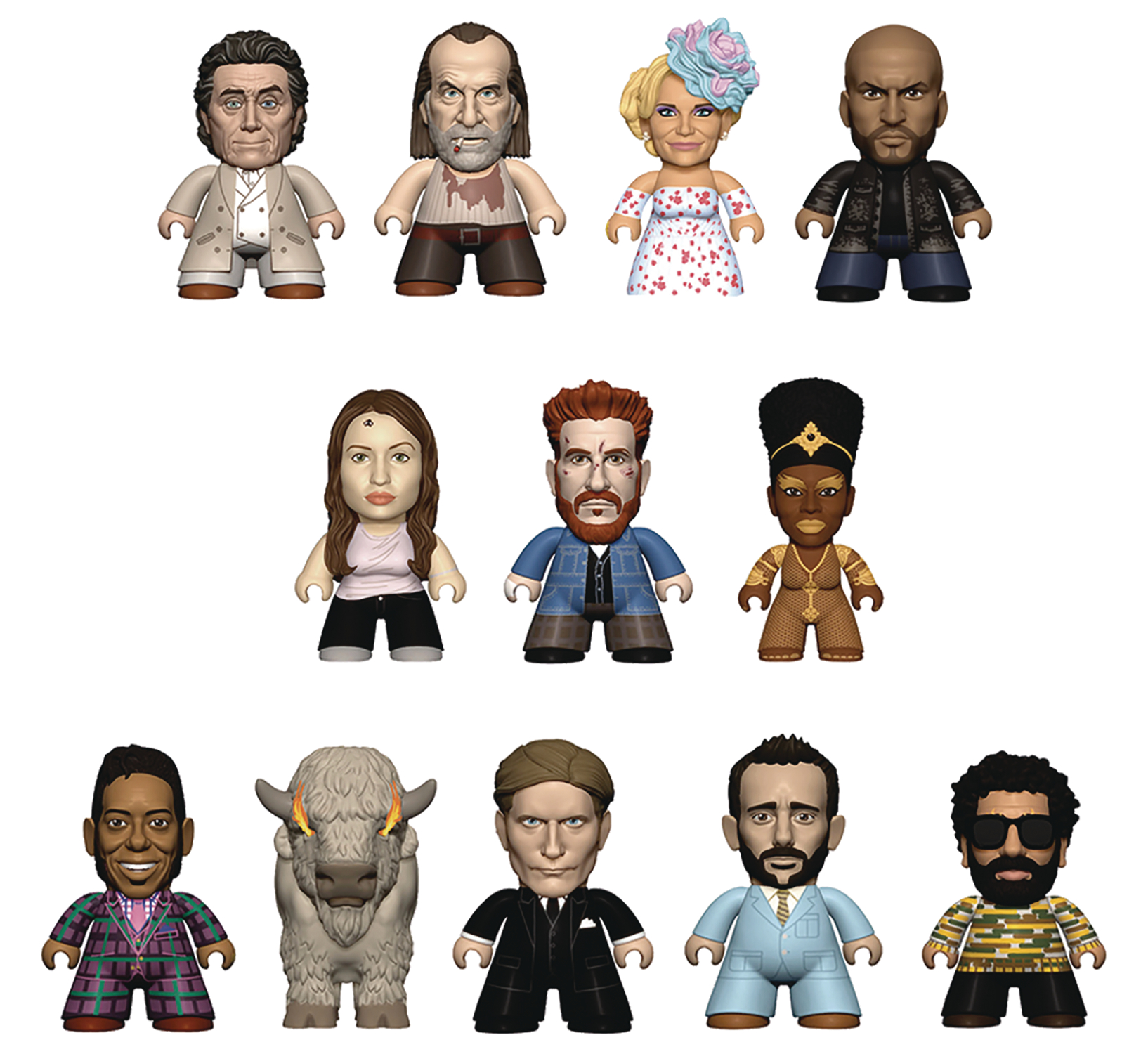 AMERICAN GODS TITANS MINI FIG 18PC BMB DS