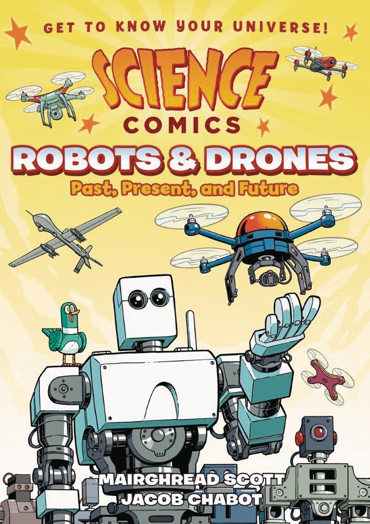 SCIENCE COMICS ROBOTS & DRONES GN