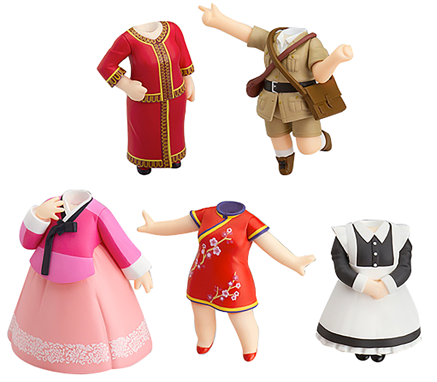 LOVE LIVE DRESS UP WORLD GIRLS VOL 1 NENDOROID MORE 5PC DS (