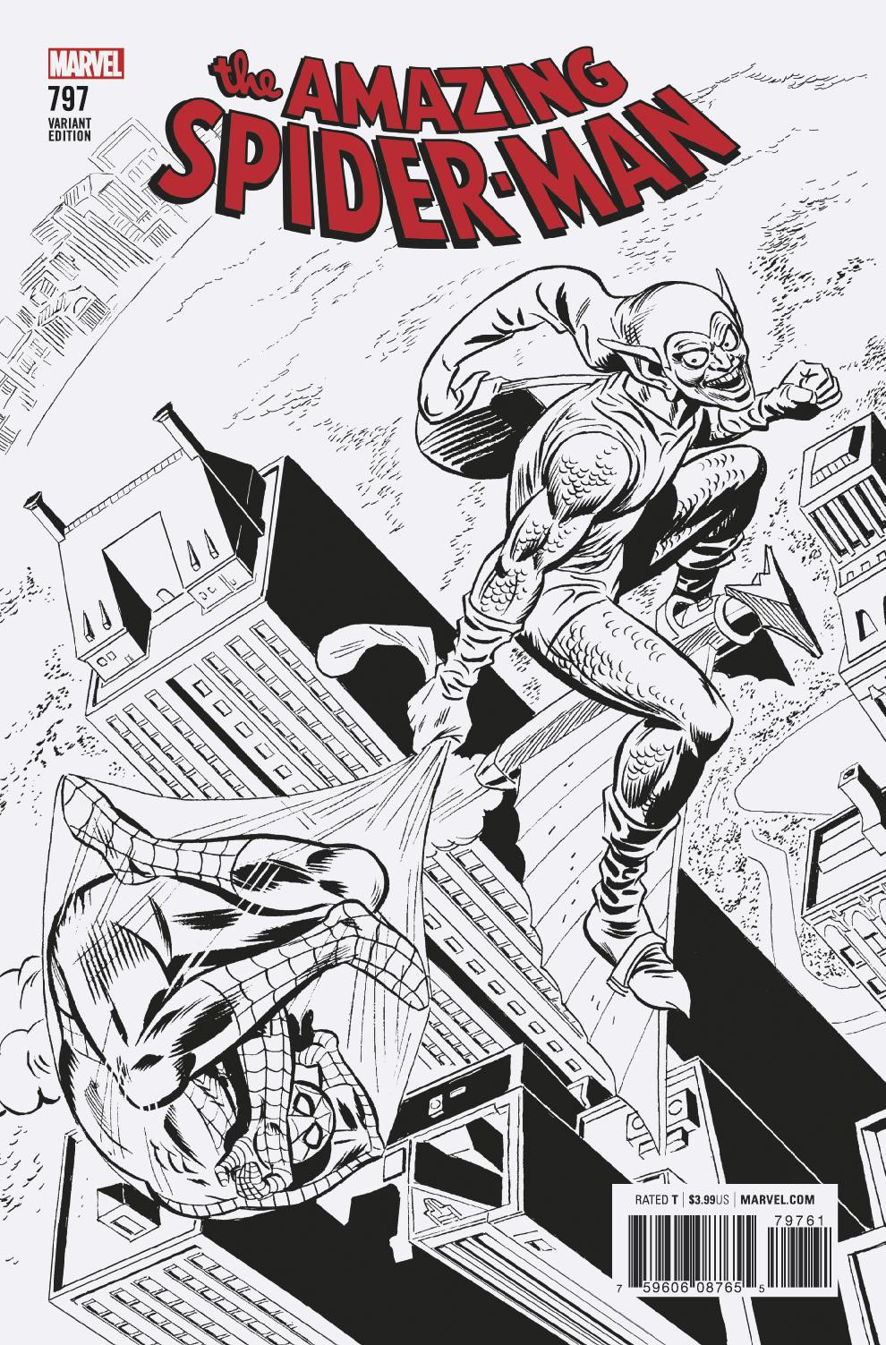 AMAZING SPIDER-MAN #797 REMASTERED B&W VAR LEG