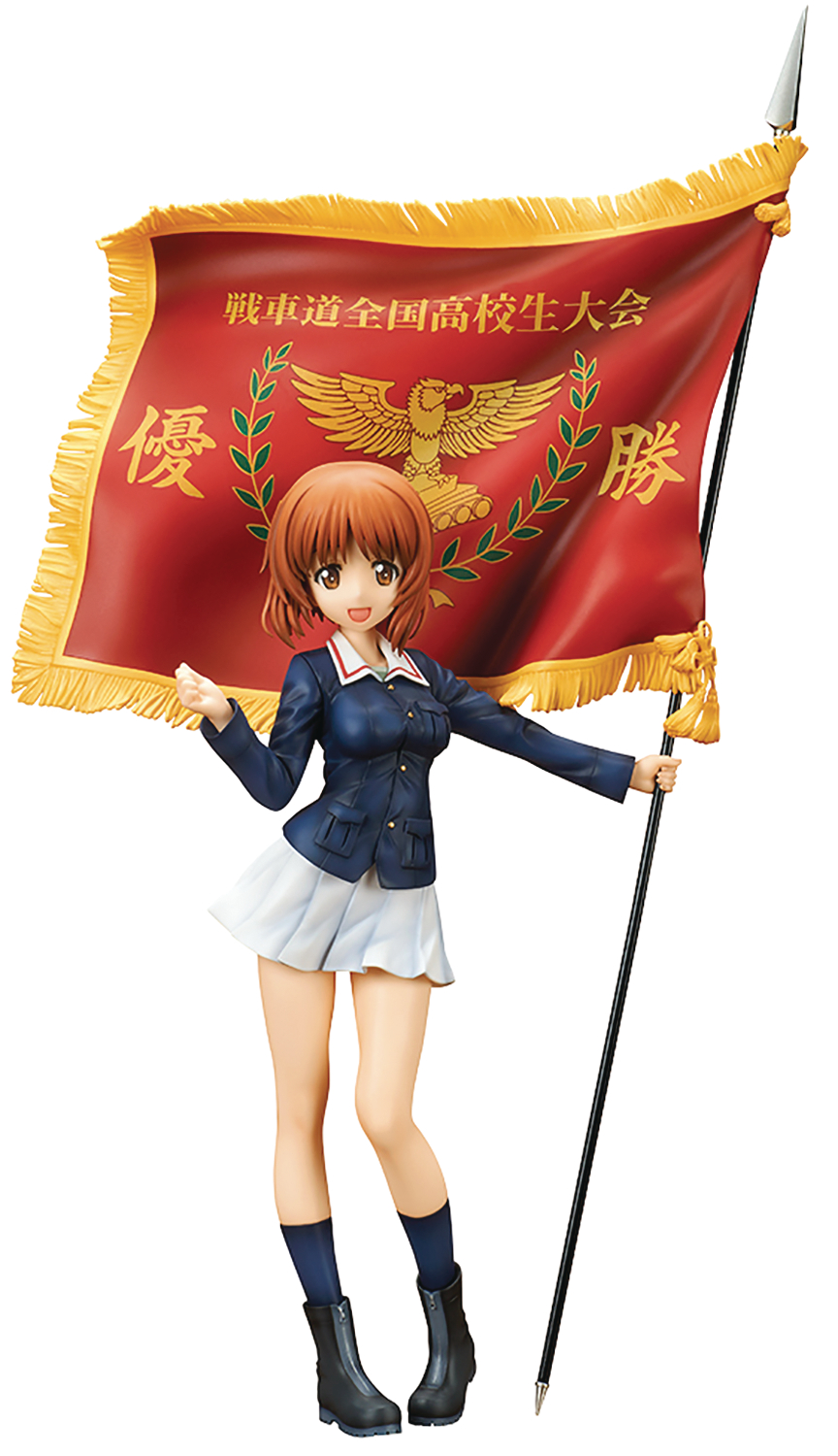 GIRLS UND PANZER MOVIE MIHO NISHIZUMI 1/7 PVC FIG W/ FLAG (C