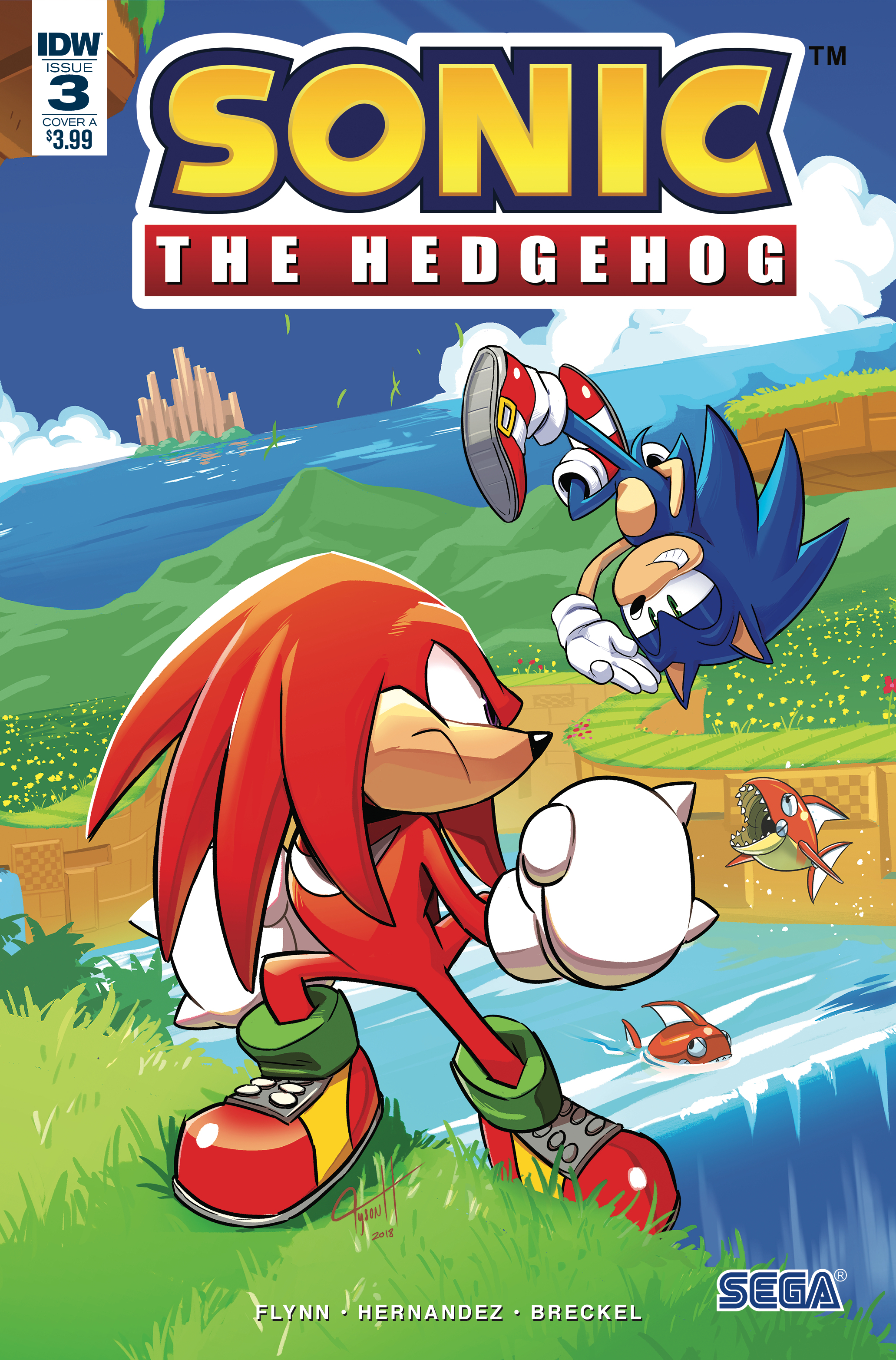 SONIC THE HEDGEHOG #3 CVR A HESSE