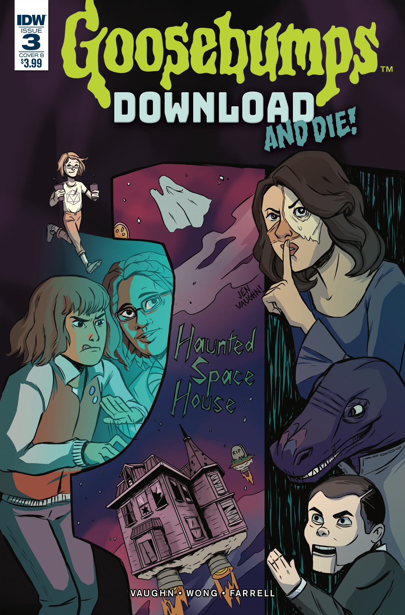 GOOSEBUMPS DOWNLOAD & DIE #3 CVR B VAUGHN