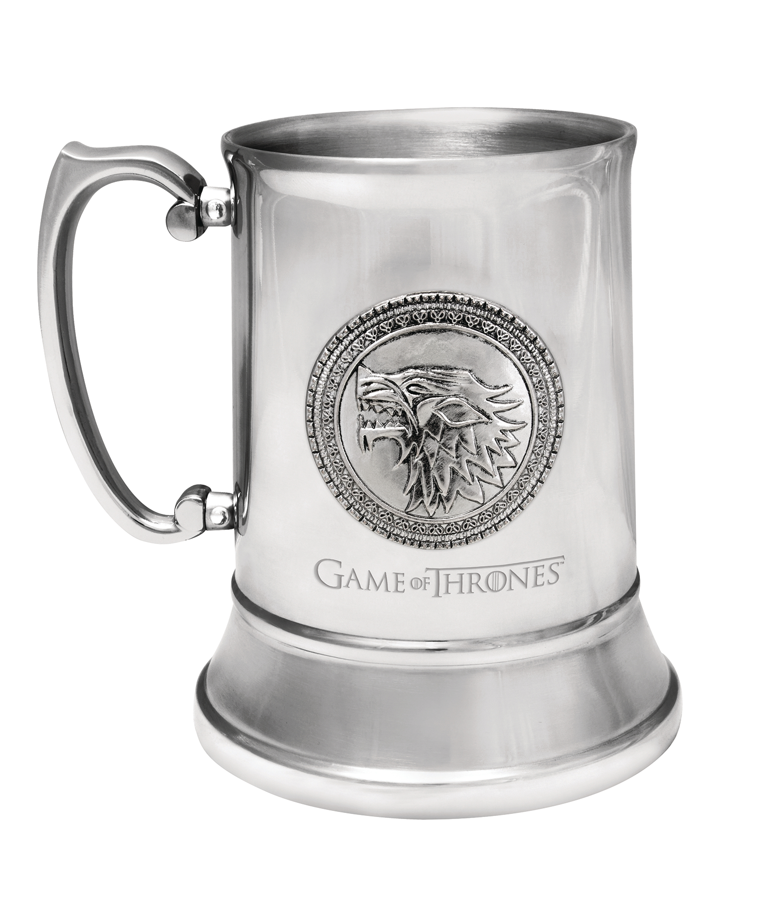 GAME OF THRONES STAINLESS STEEL STEIN STARK SIGIL