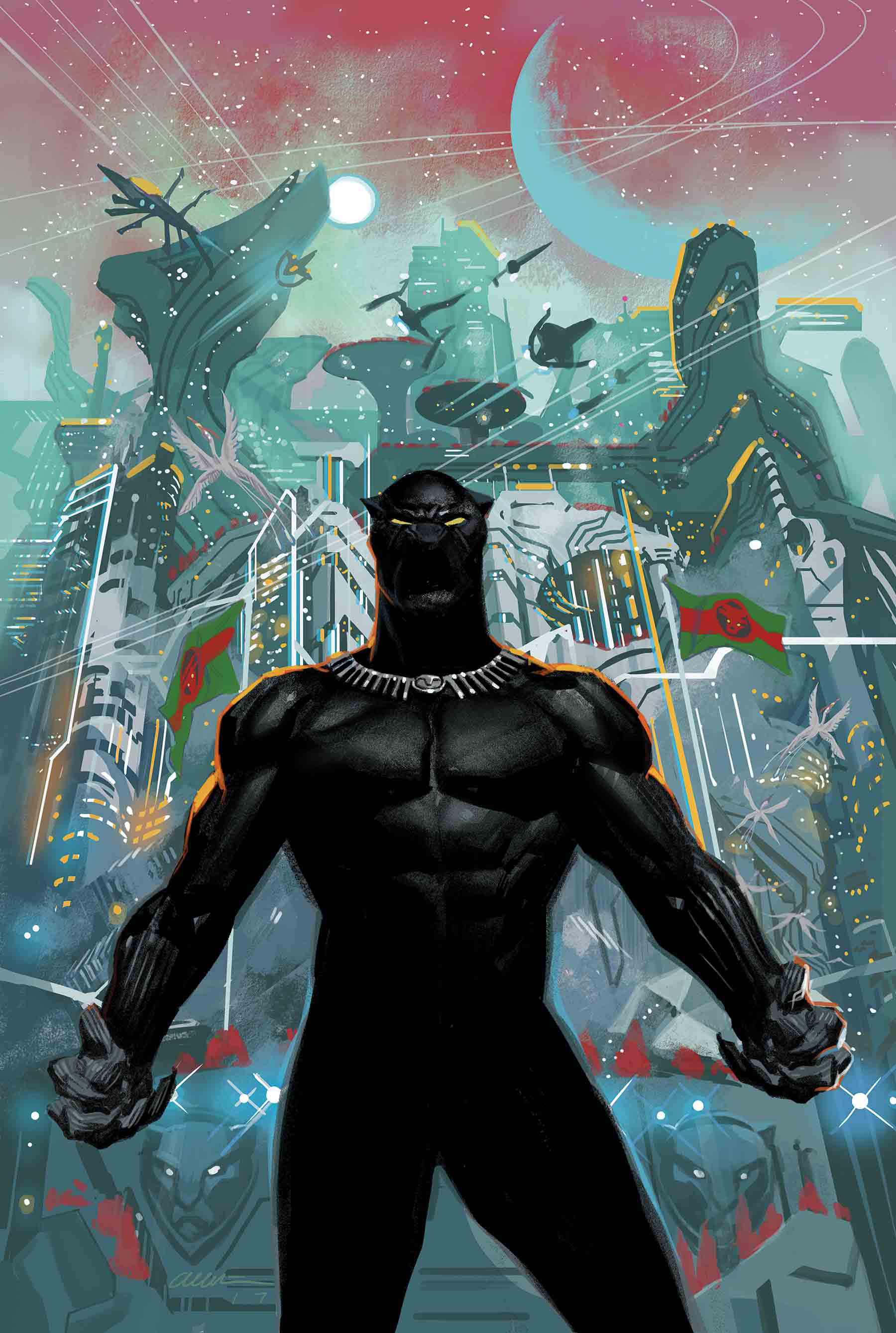 BLACK PANTHER #1 BY ACUNA POSTER