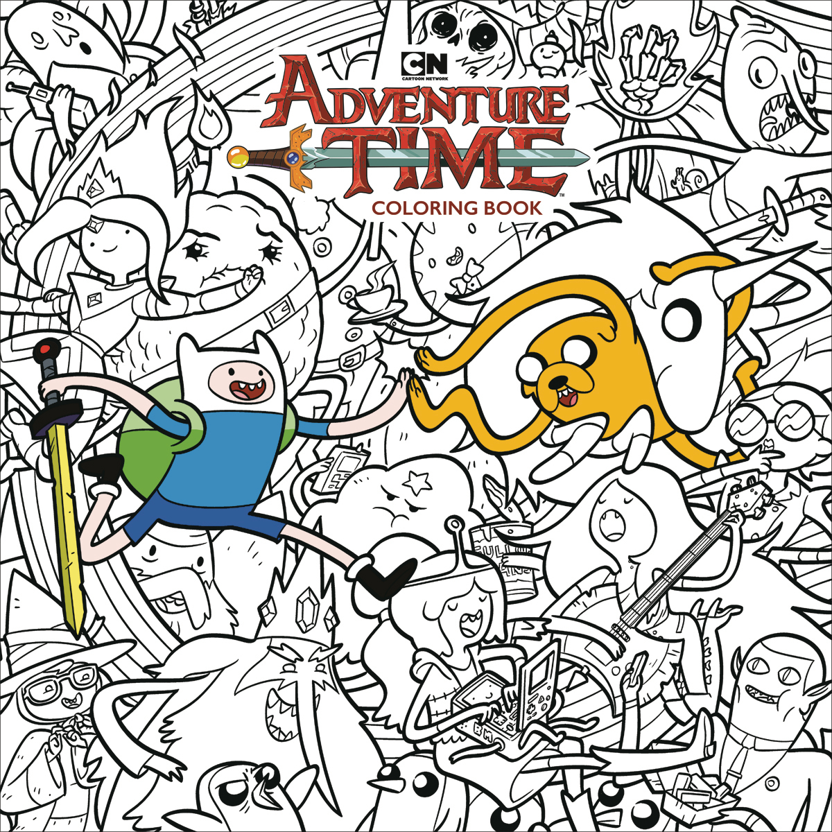 ADVENTURE TIME ADULT COLORING BOOK TP
