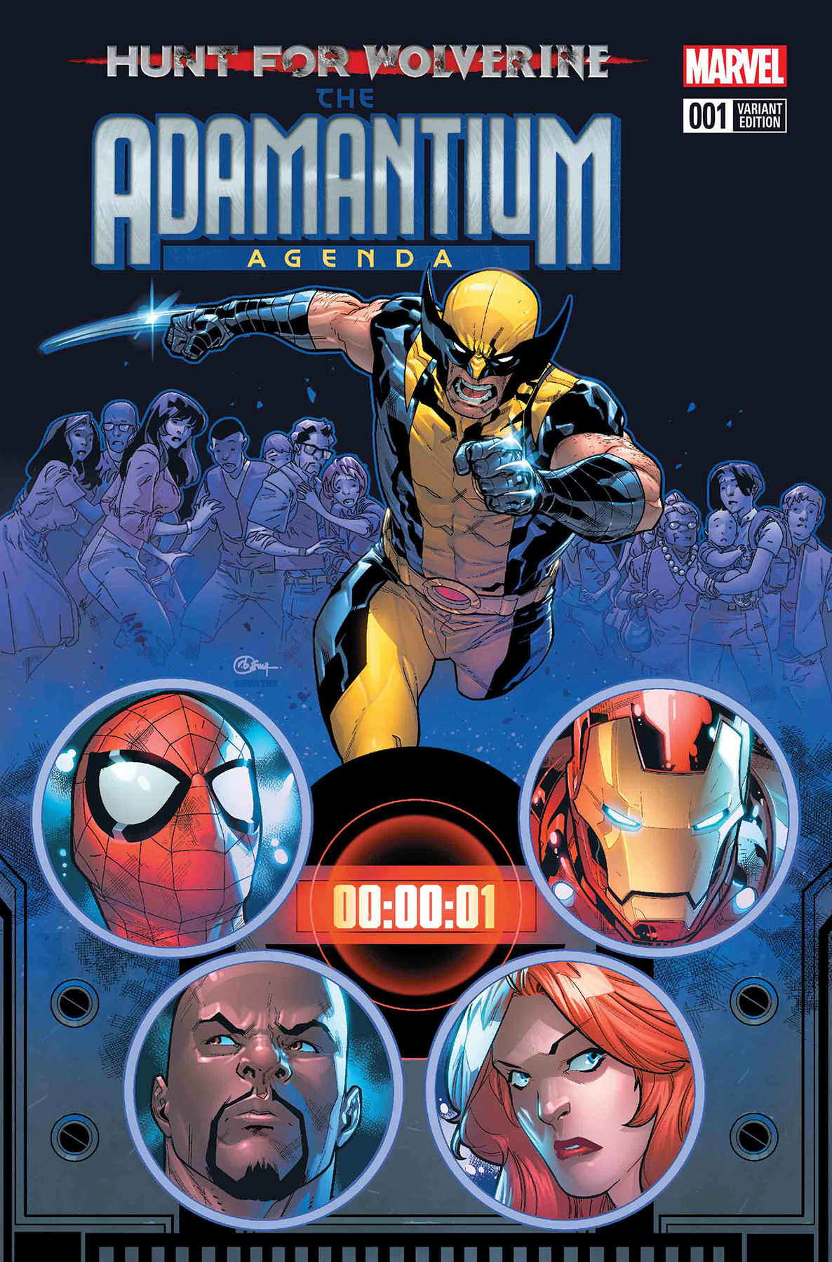 HUNT FOR WOLVERINE ADAMANTIUM AGENDA #1 (OF 4) SILVA VAR