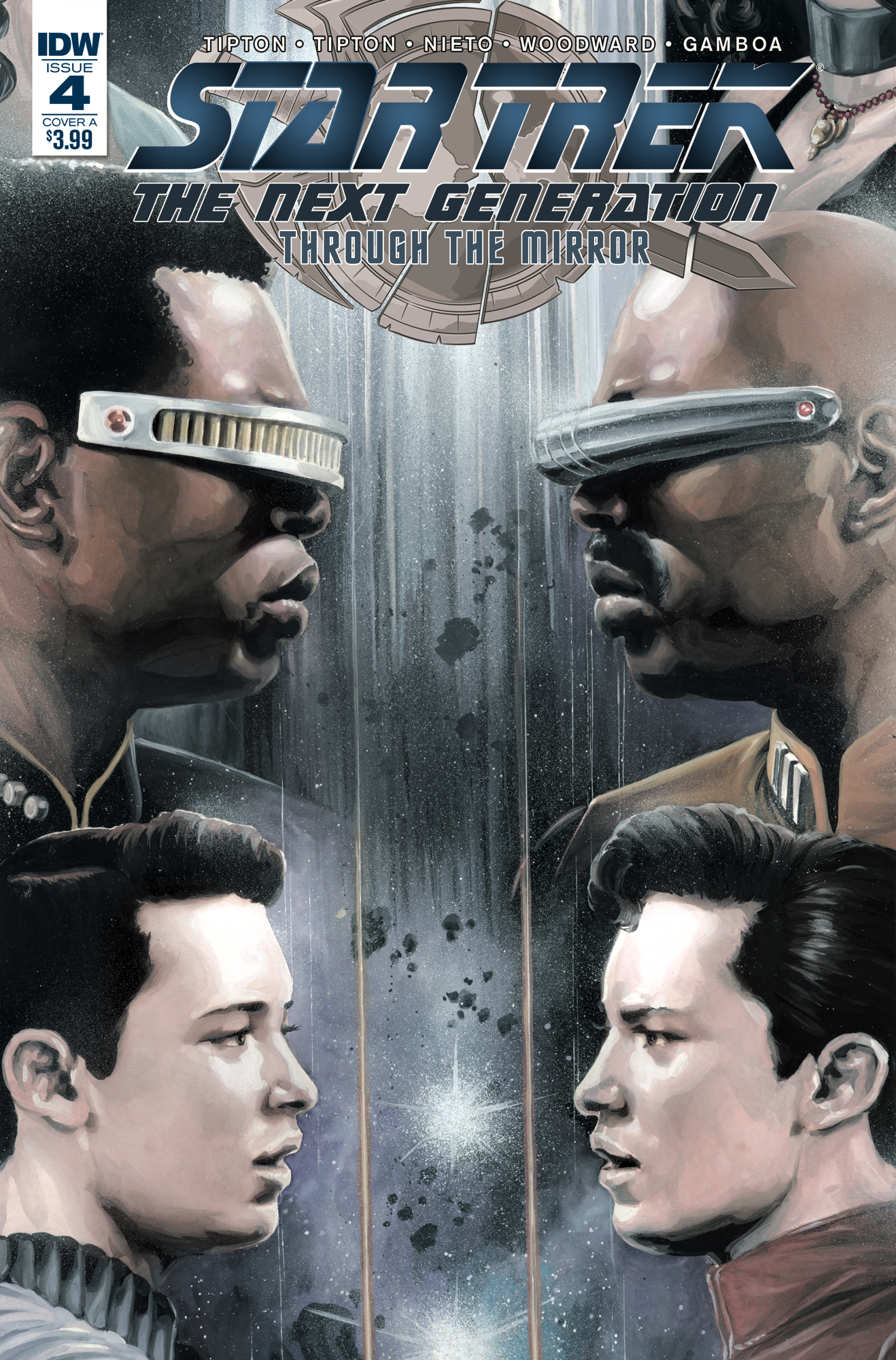 STAR TREK TNG THROUGH THE MIRROR #4 CVR A WOODWARD