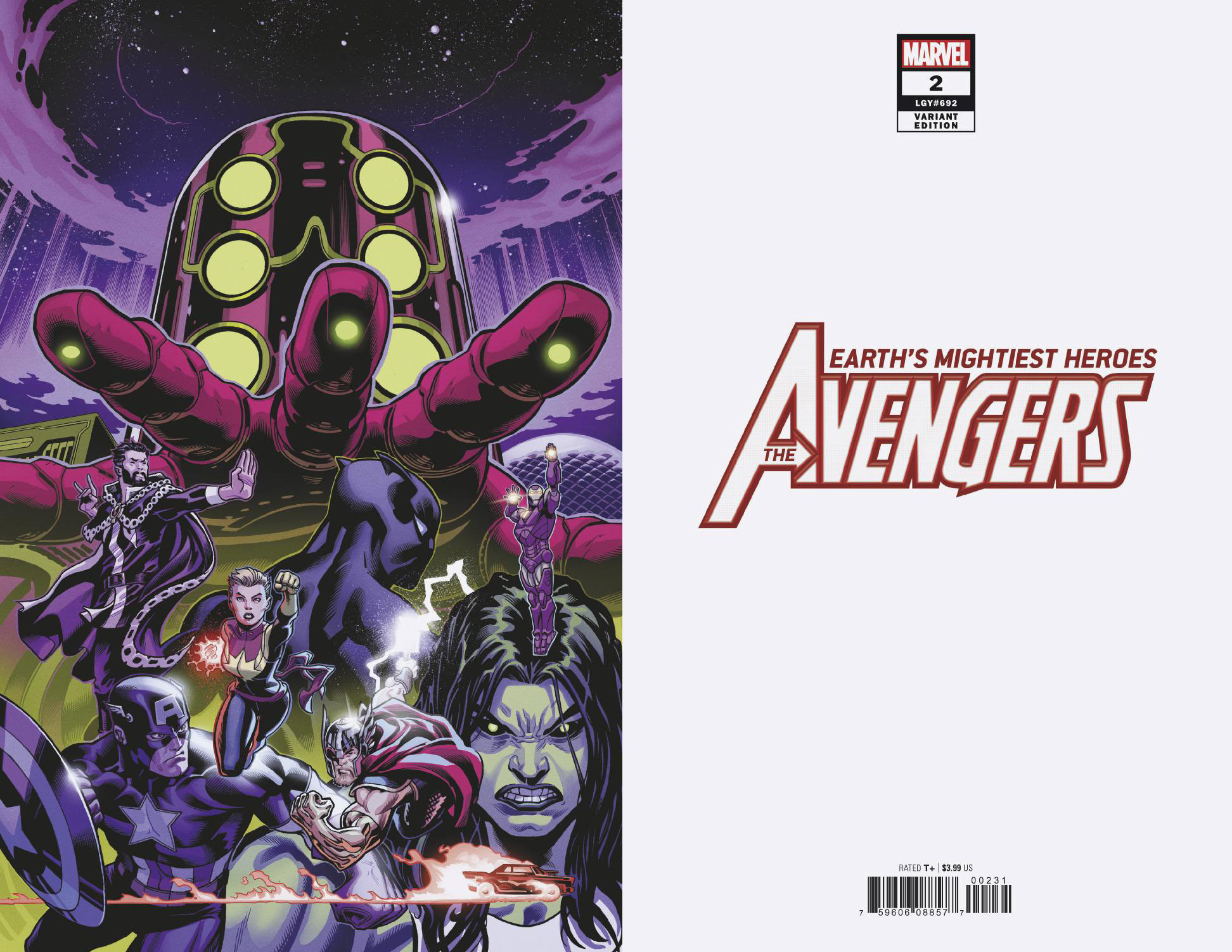 AVENGERS #2 MCGUINNESS VIRGIN VAR
