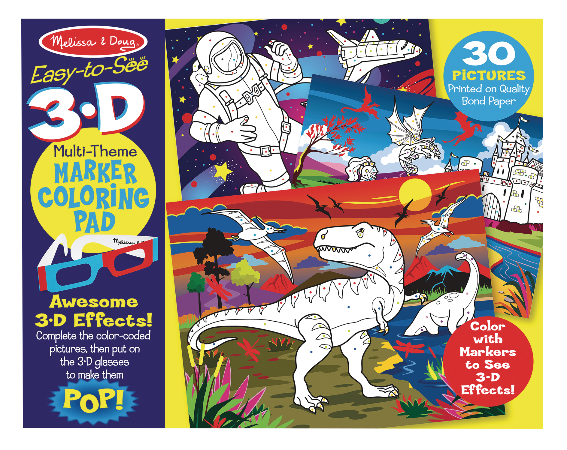 JAN188013 - MELISSA & DOUG 3D COLORING BOOK - Previews World