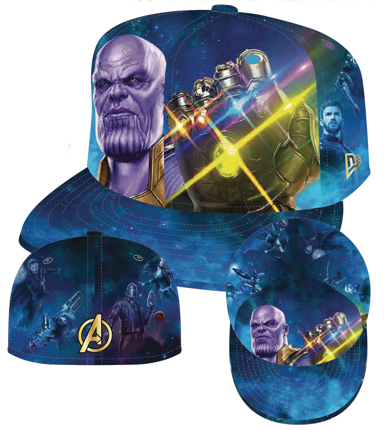 APR182770 - AVENGERS IW THANOS INFINITY GAUNTLET 5950 FITTED CAP 7 3 ... d5f6349f85b