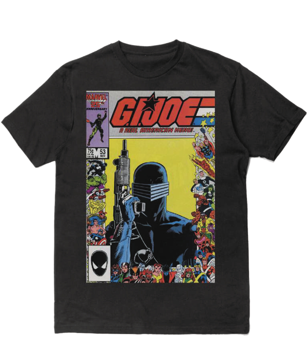 GI JOE SNAKE EYES BLACK T/S SM