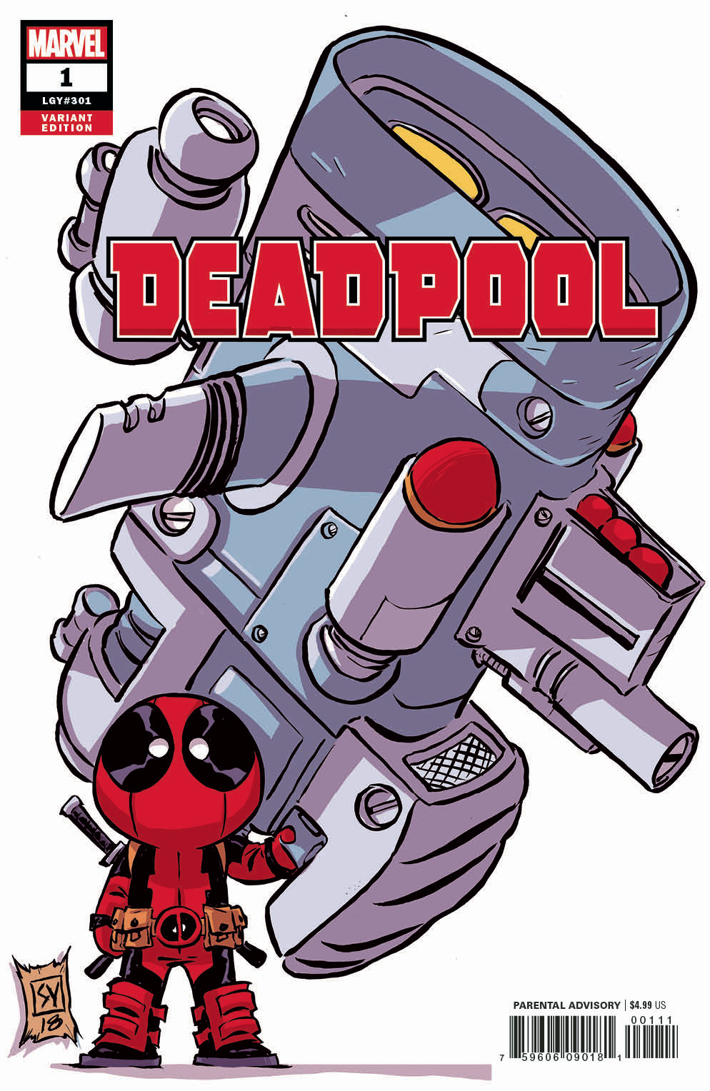 DEADPOOL #1 YOUNG VAR