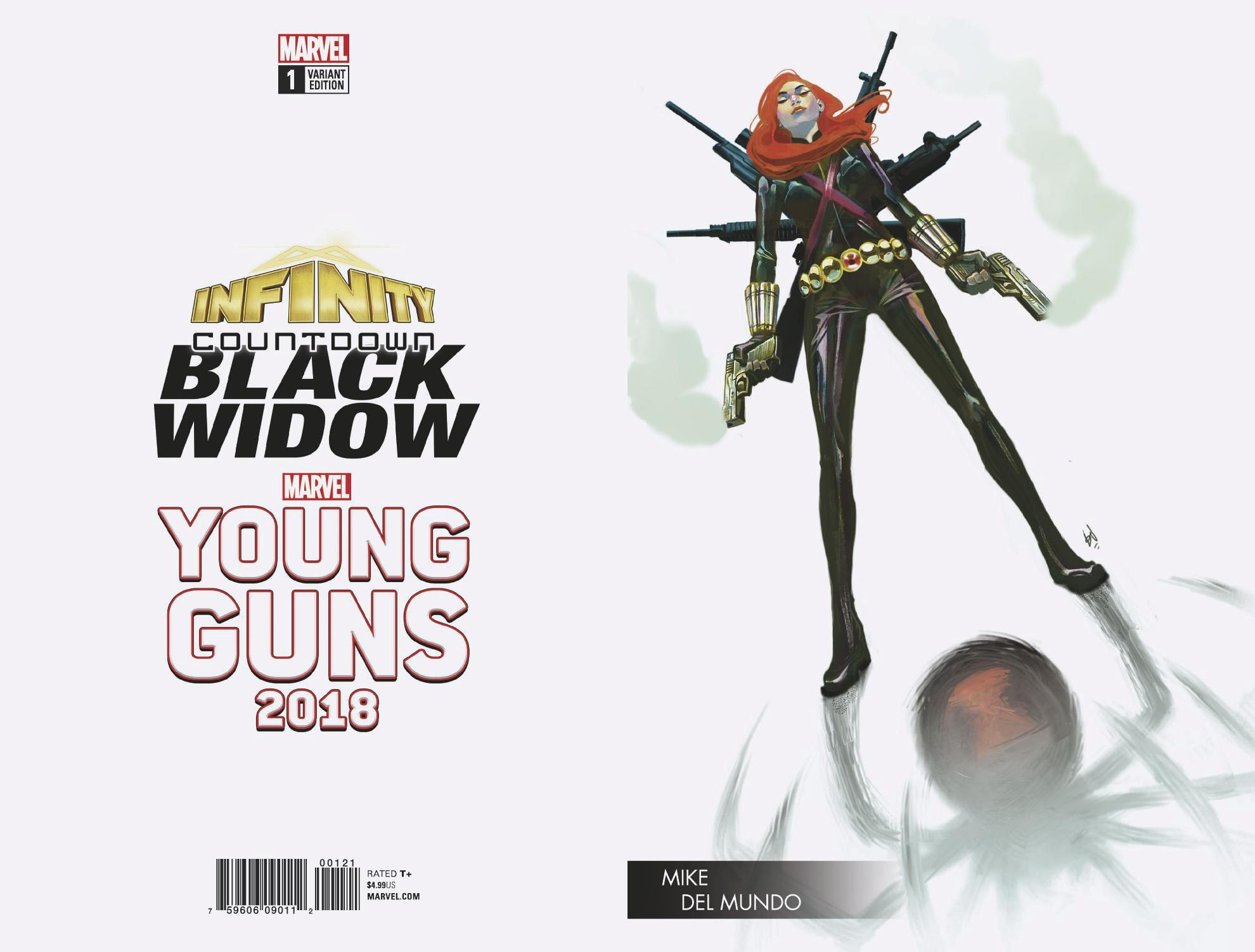 INFINITY COUNTDOWN BLACK WIDOW #1 DEL MUNDO YOUNG GUNS VAR