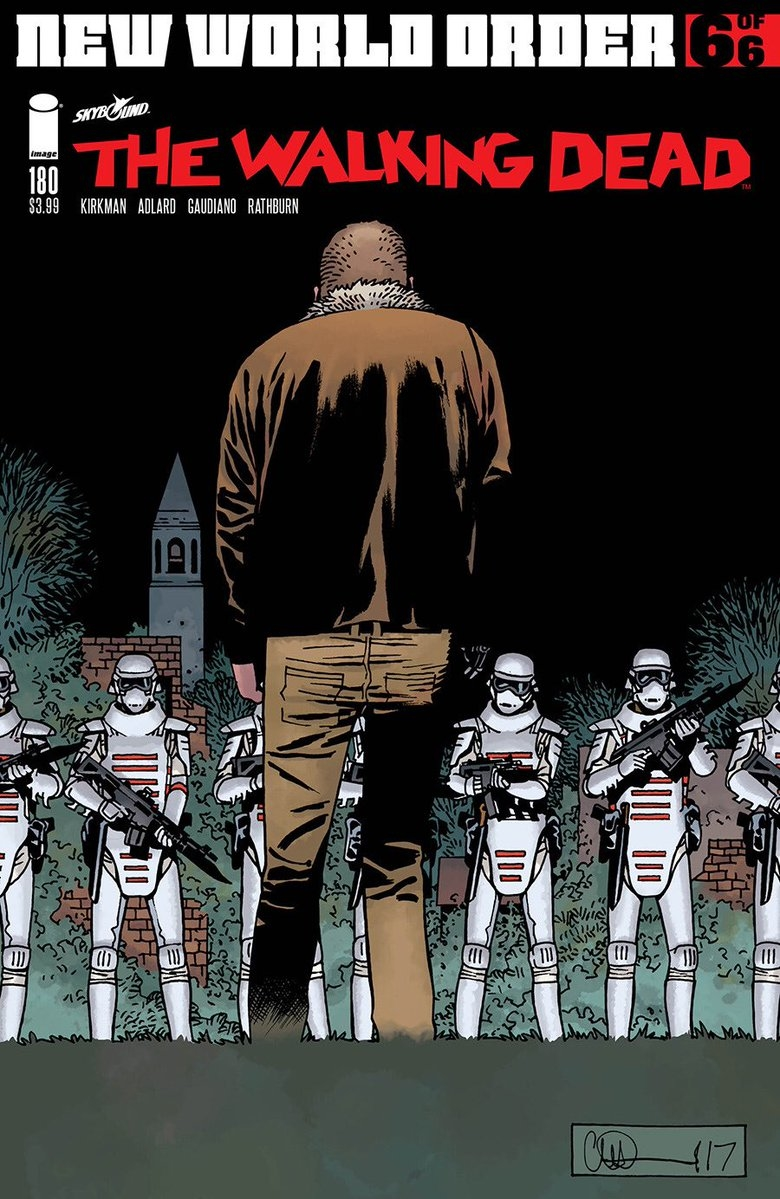 DF WALKING DEAD #180 BLOOD RED SGN GAUDIANO