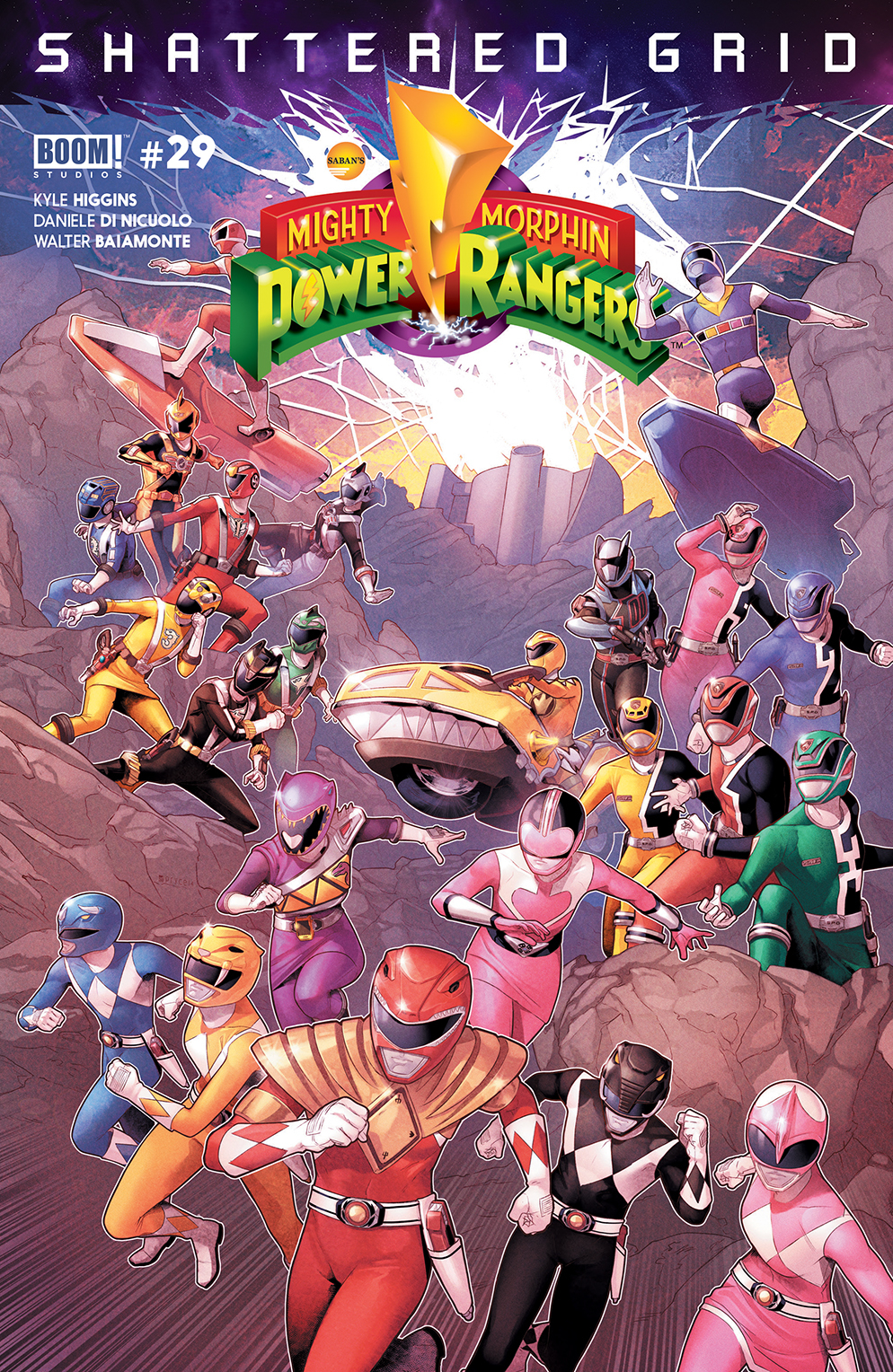 MIGHTY MORPHIN POWER RANGERS #29 MAIN SG