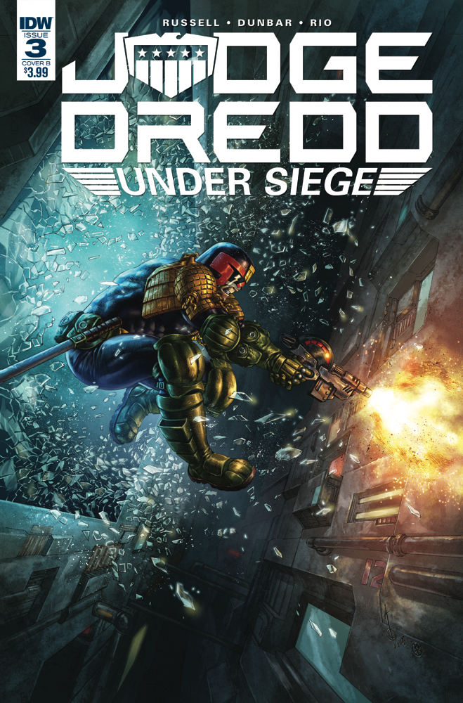 JUDGE DREDD UNDER SIEGE #3 (OF 4) CVR B QUAH