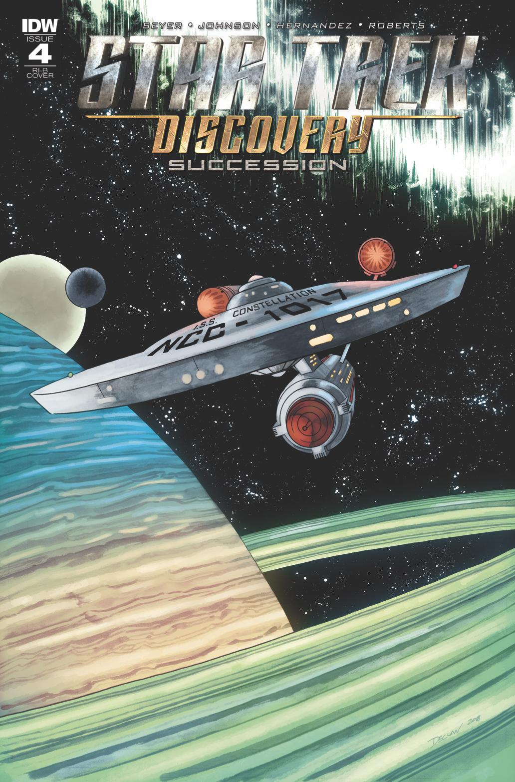 STAR TREK DISCOVERY SUCCESSION #4 25 COPY INCV
