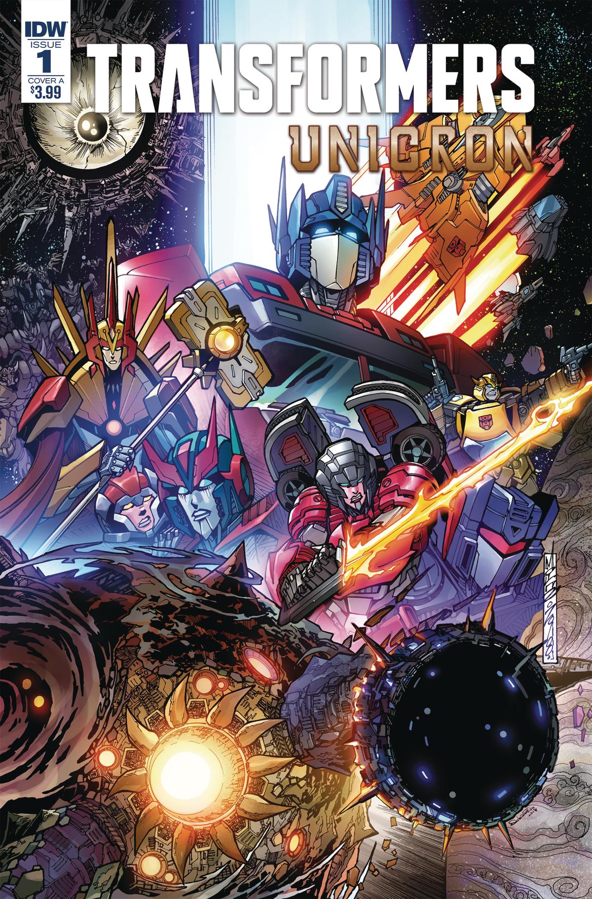 Capa de Transformers: Unicron #1 por Alex MIlne.