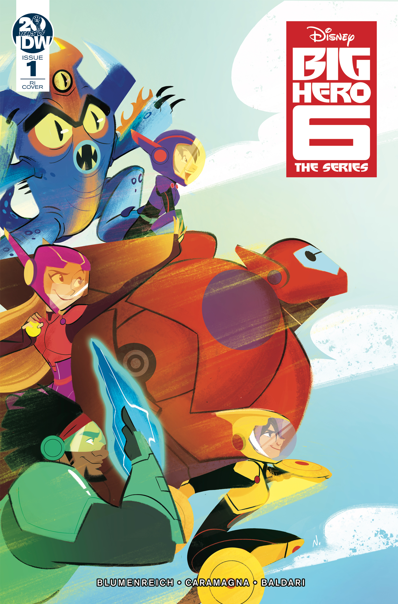 BIG HERO 6 THE SERIES #1 10 COPY INCV BALDARI (RES) (C