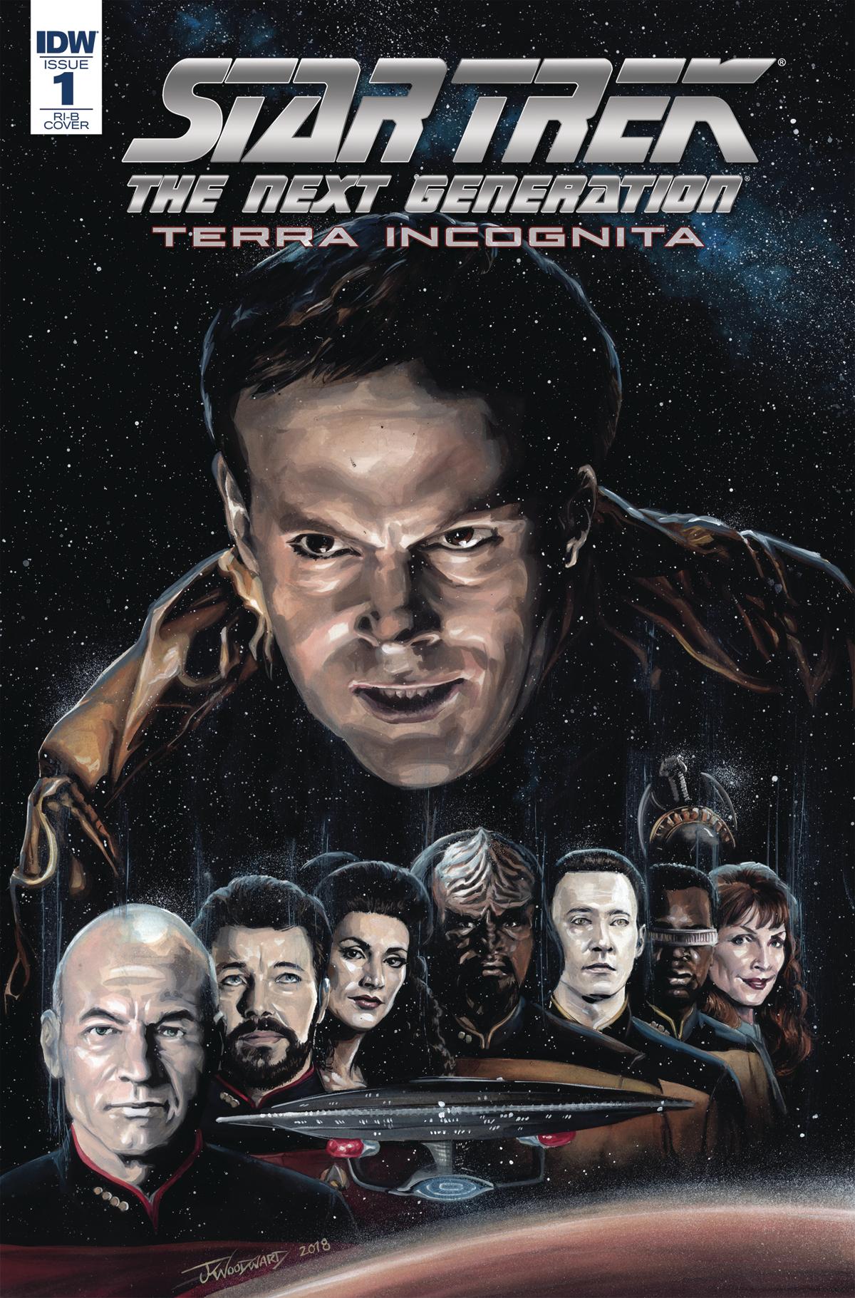 STAR TREK TNG TERRA INCOGNITA #1 25 COPY INCV WOODWARD