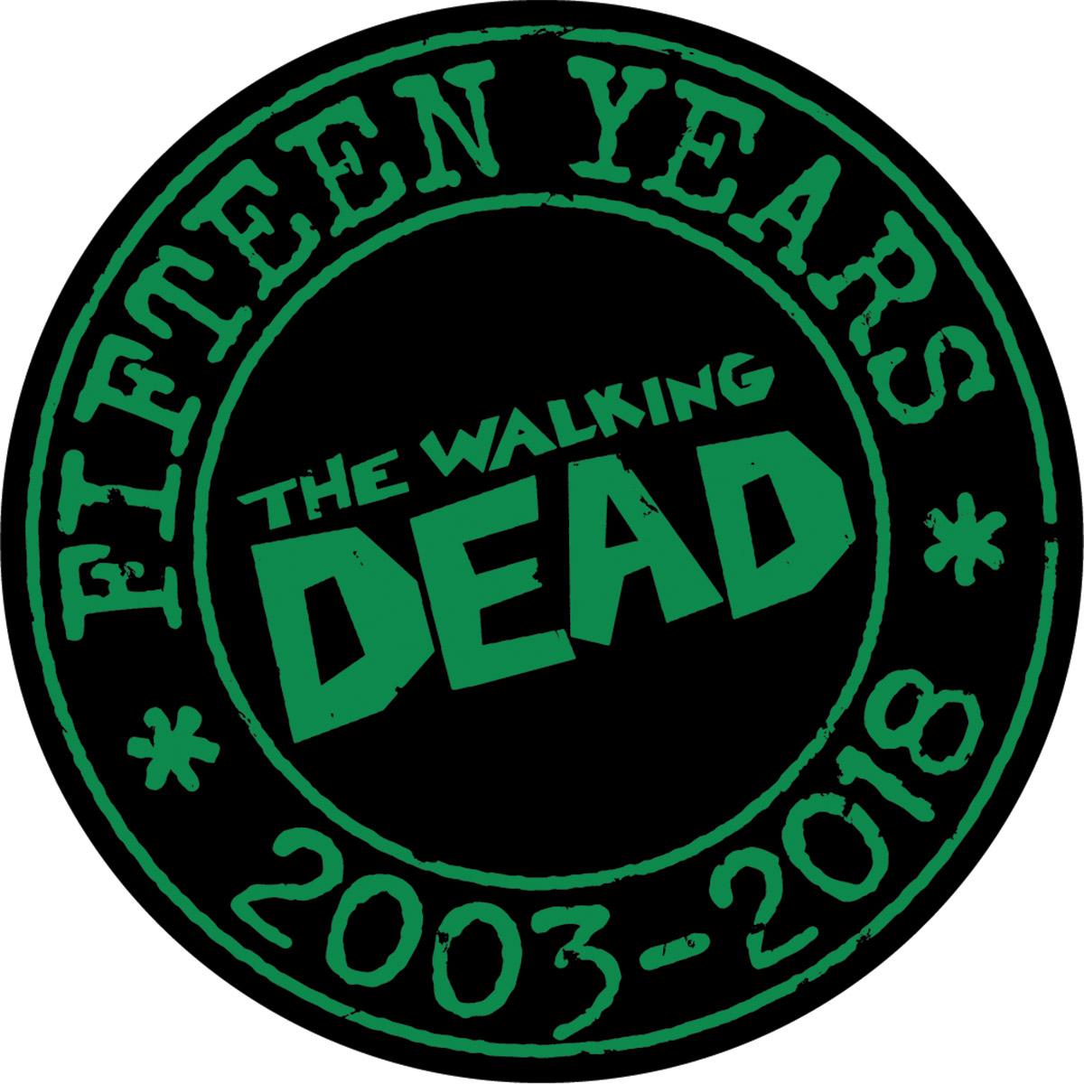 WALKING DEAD 15TH ANNV PIN