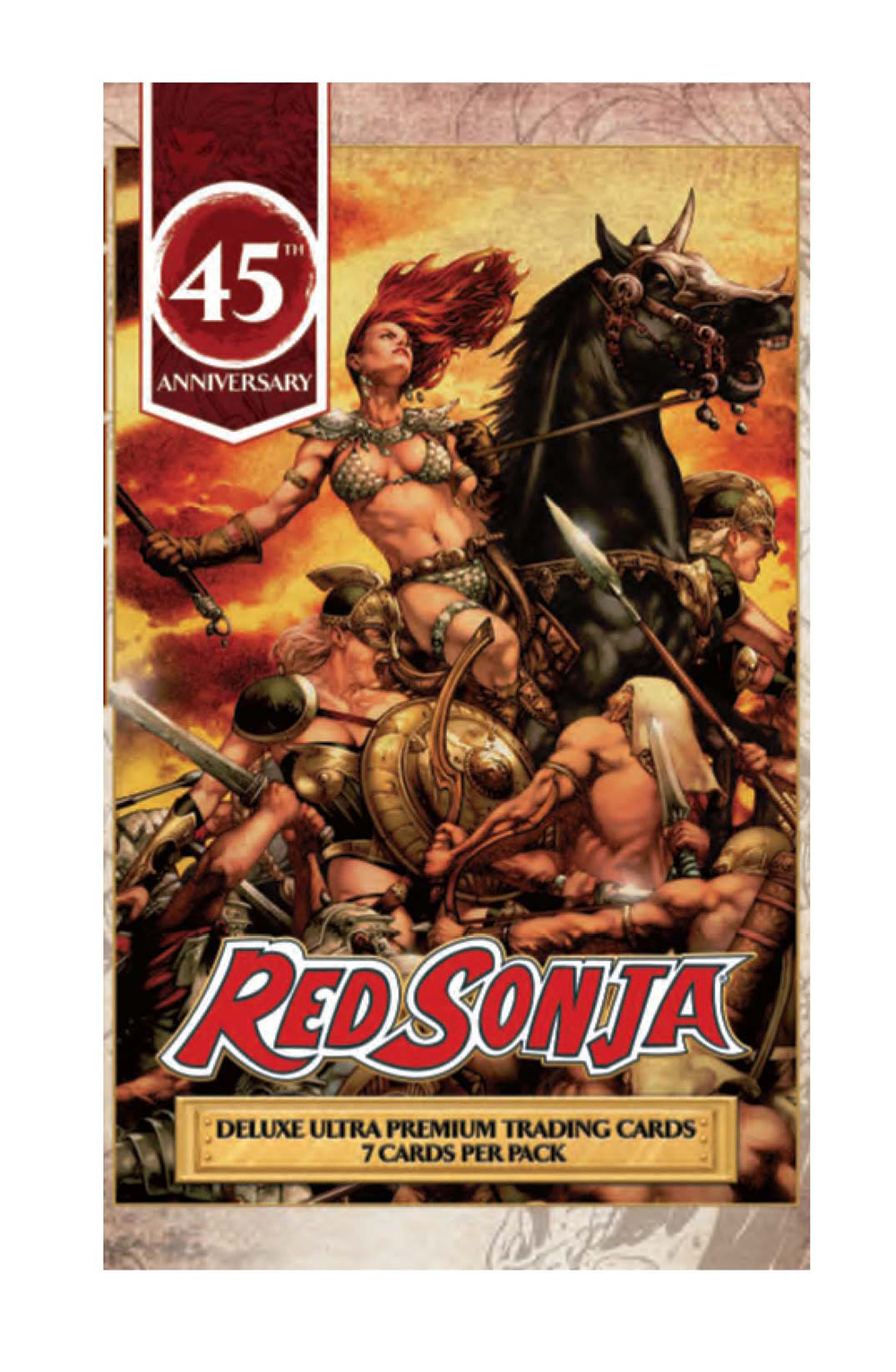 RED SONJA 45TH ANNIVERSARY FOIL TRADING CARD PACK  C: 0