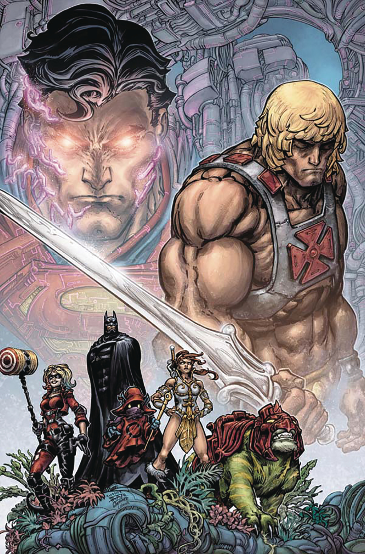DF INJUSTICE VS HE MAN #1 SGN TIM SEELY