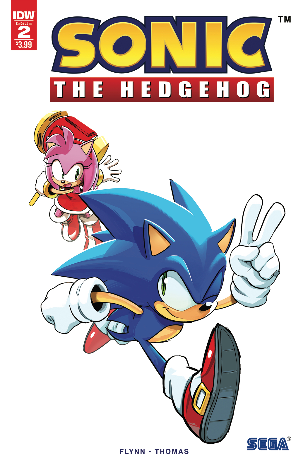 SONIC THE HEDGEHOG #2 2ND PTG