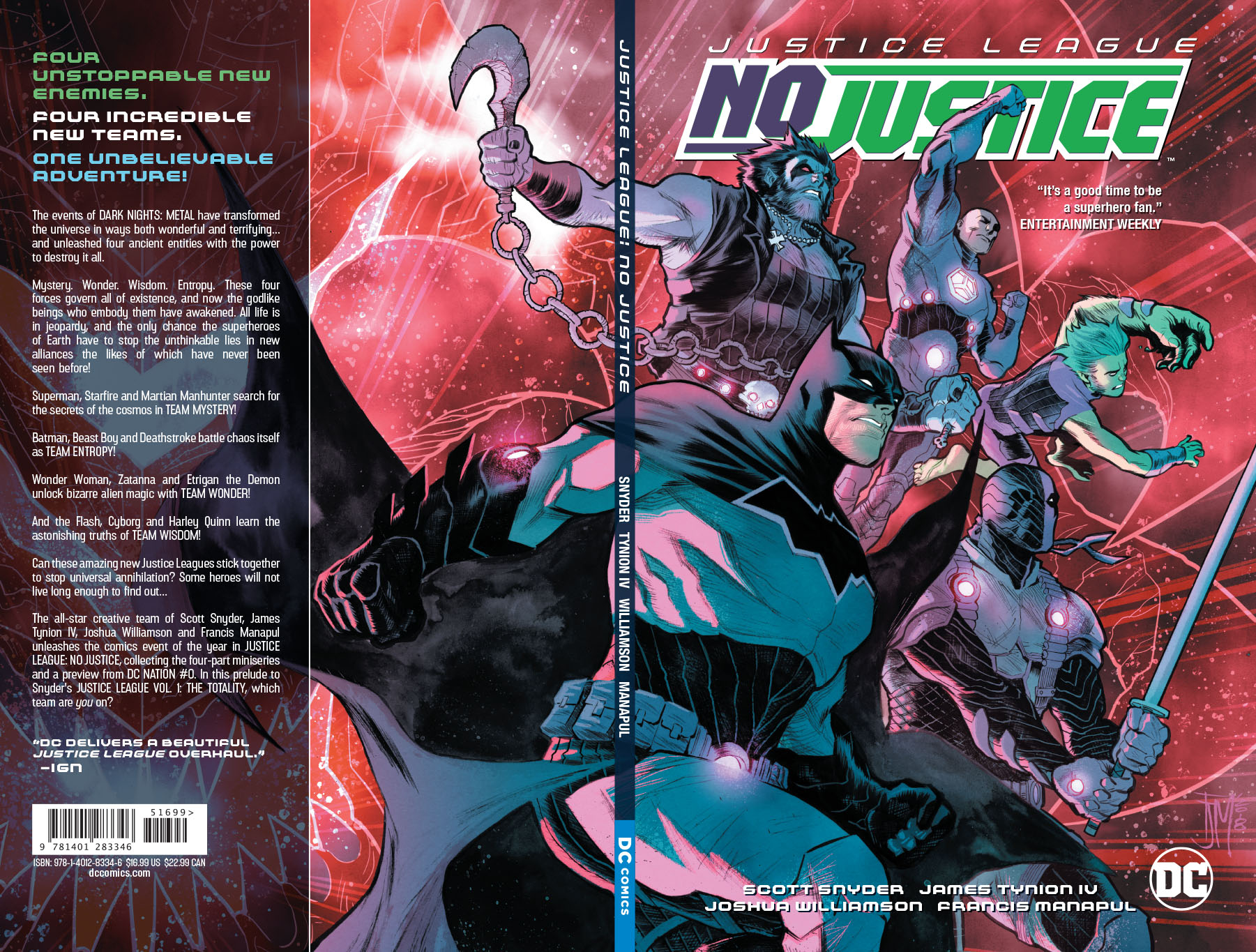 JUSTICE LEAGUE NO JUSTICE TP (JUN180583)