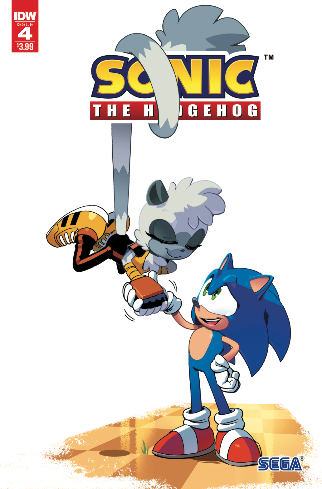 SONIC THE HEDGEHOG #4 2ND PTG