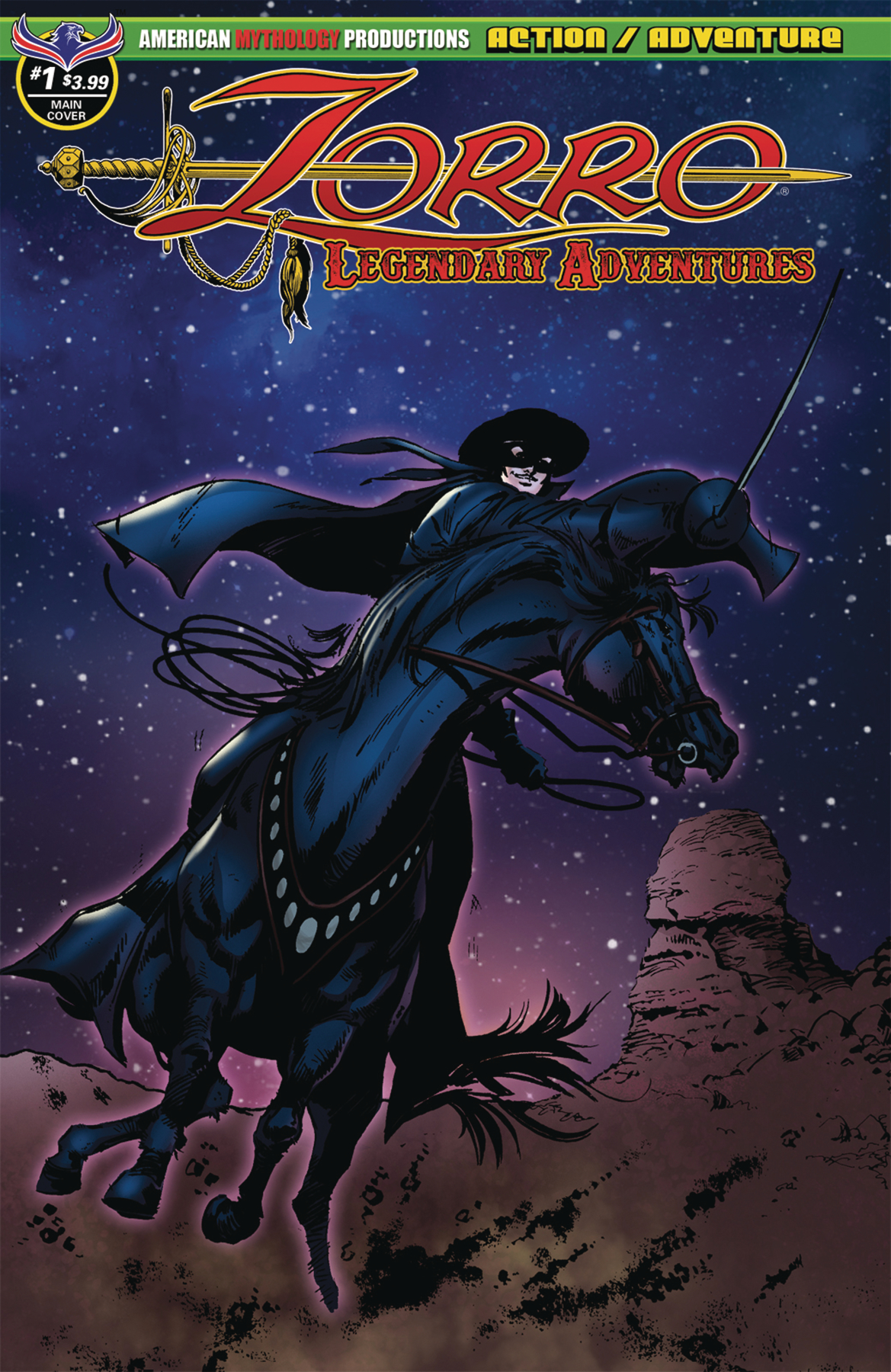 ZORRO LEGENDARY ADVENTURES #1 MAIN CVR